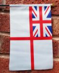 WHITE ENSIGN (BRITISH NAVY) - HAND WAVING FLAG (MEDIUM)